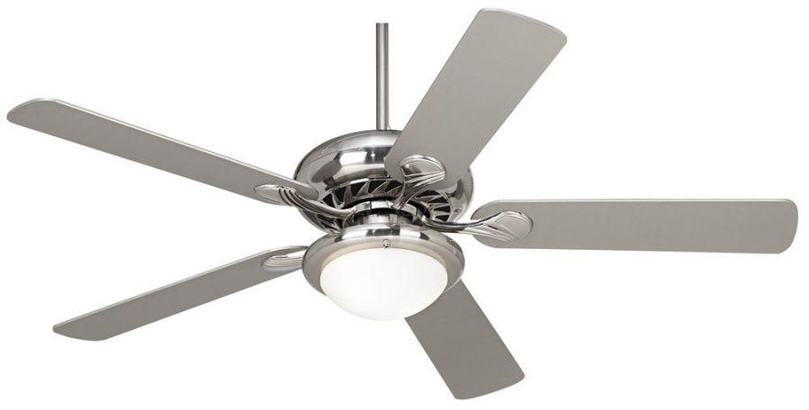 """52"""" Casa Vieja Tempra Brushed Nickel Ceiling Fan"""
