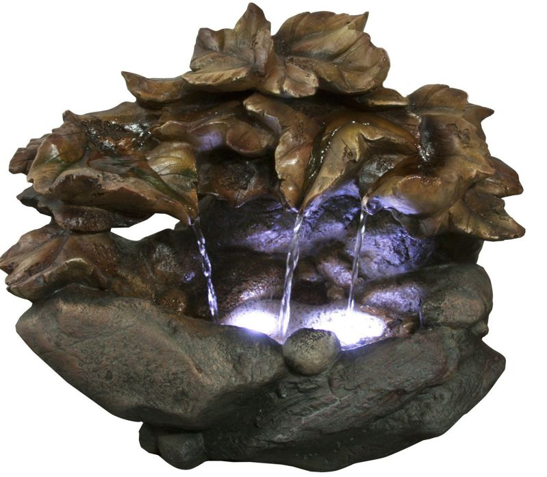 Alpine WIN940 Cascading Leaf Table Top Fountain, 10""