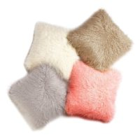 Best Home Fashion Grey Mongolian Lamb Faux Fur Pillow Cover- 24