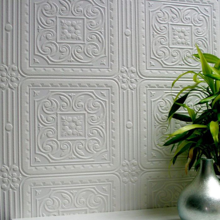 Brewster 437-RD80000 Turner Tile Textured Vinyl Wallpaper