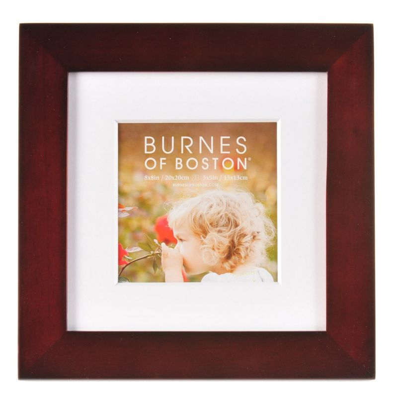 Burnes of Boston Walnut Flat Gallery Frame, 8-Inch by 8-Inch