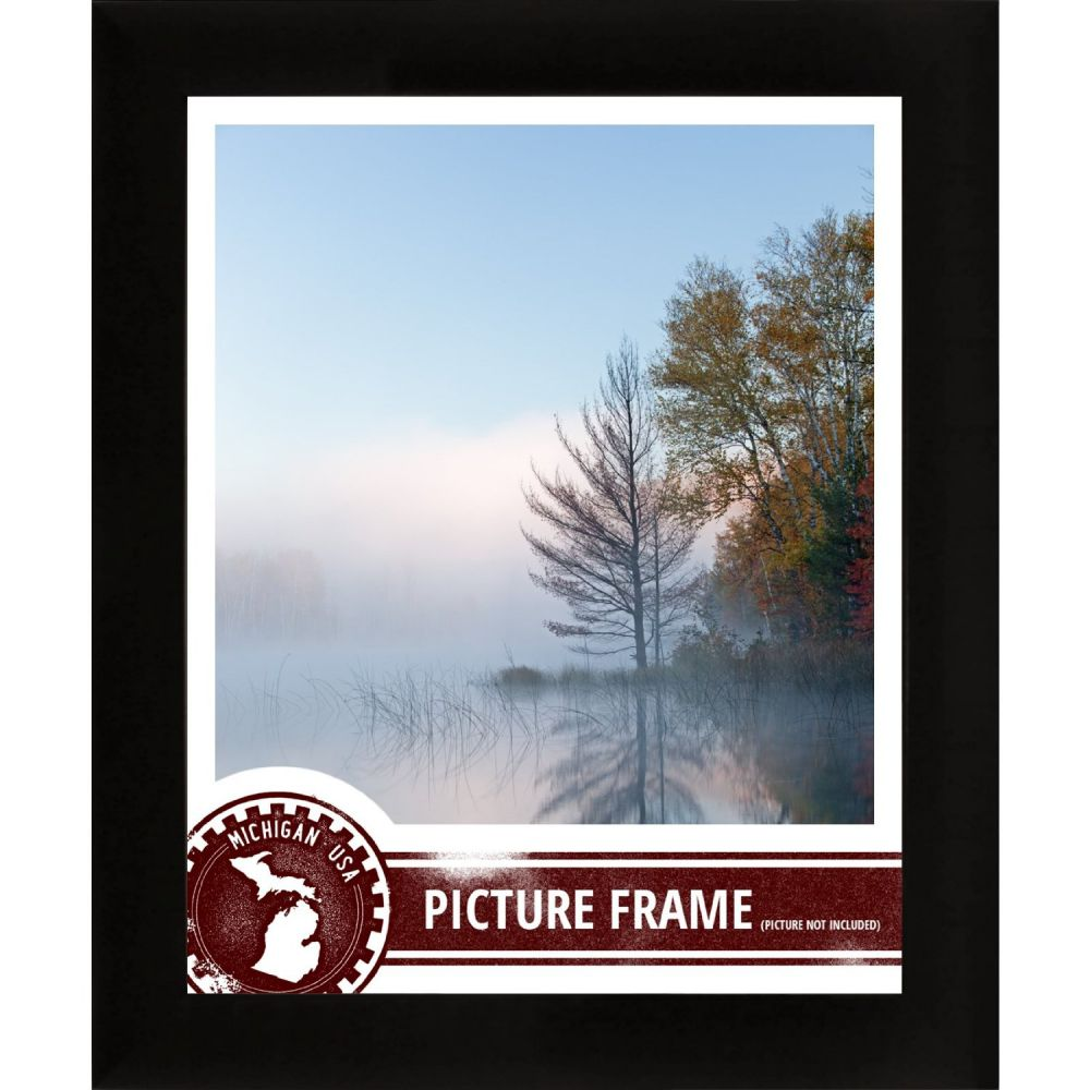 Craig Frames 1WB3BK 12 by 36-Inch Custom Frame, Smooth Finish, 1-Inch Wide, Matte Black