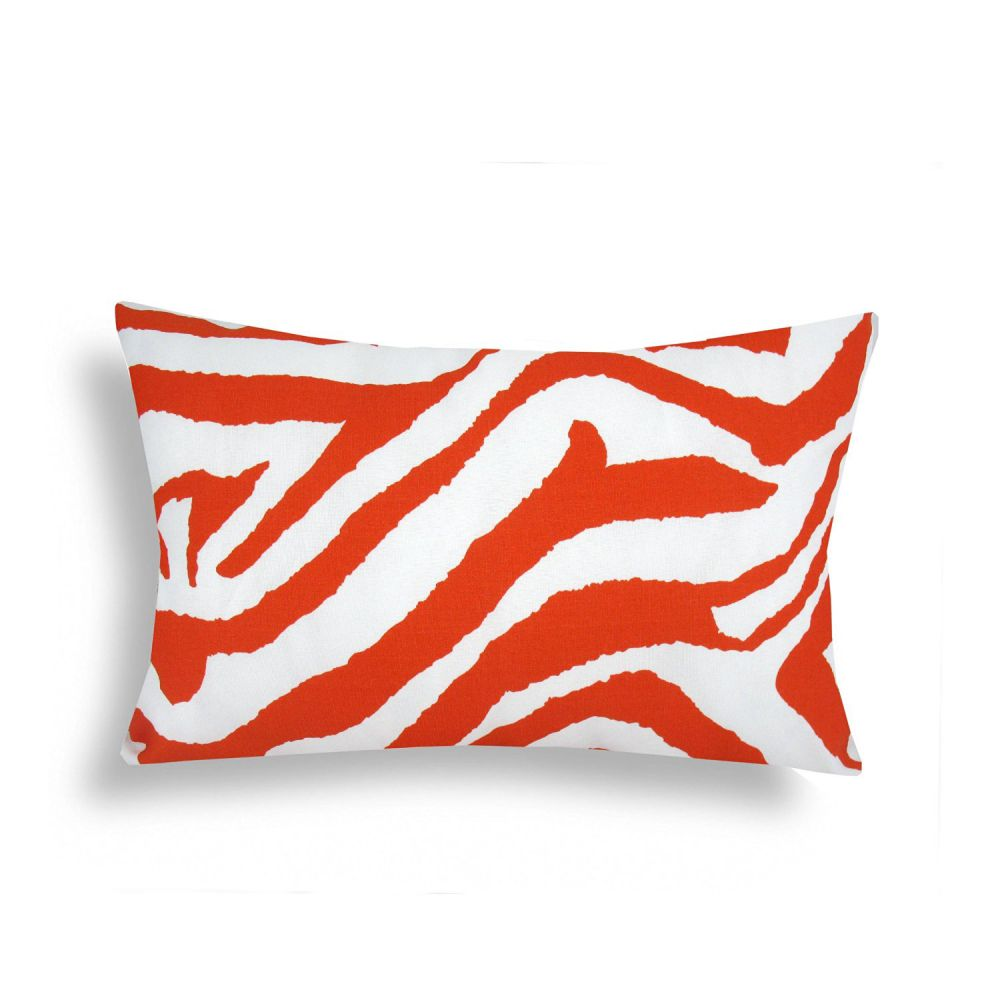 Domusworks Zebra Lumbar Pillow, Orange