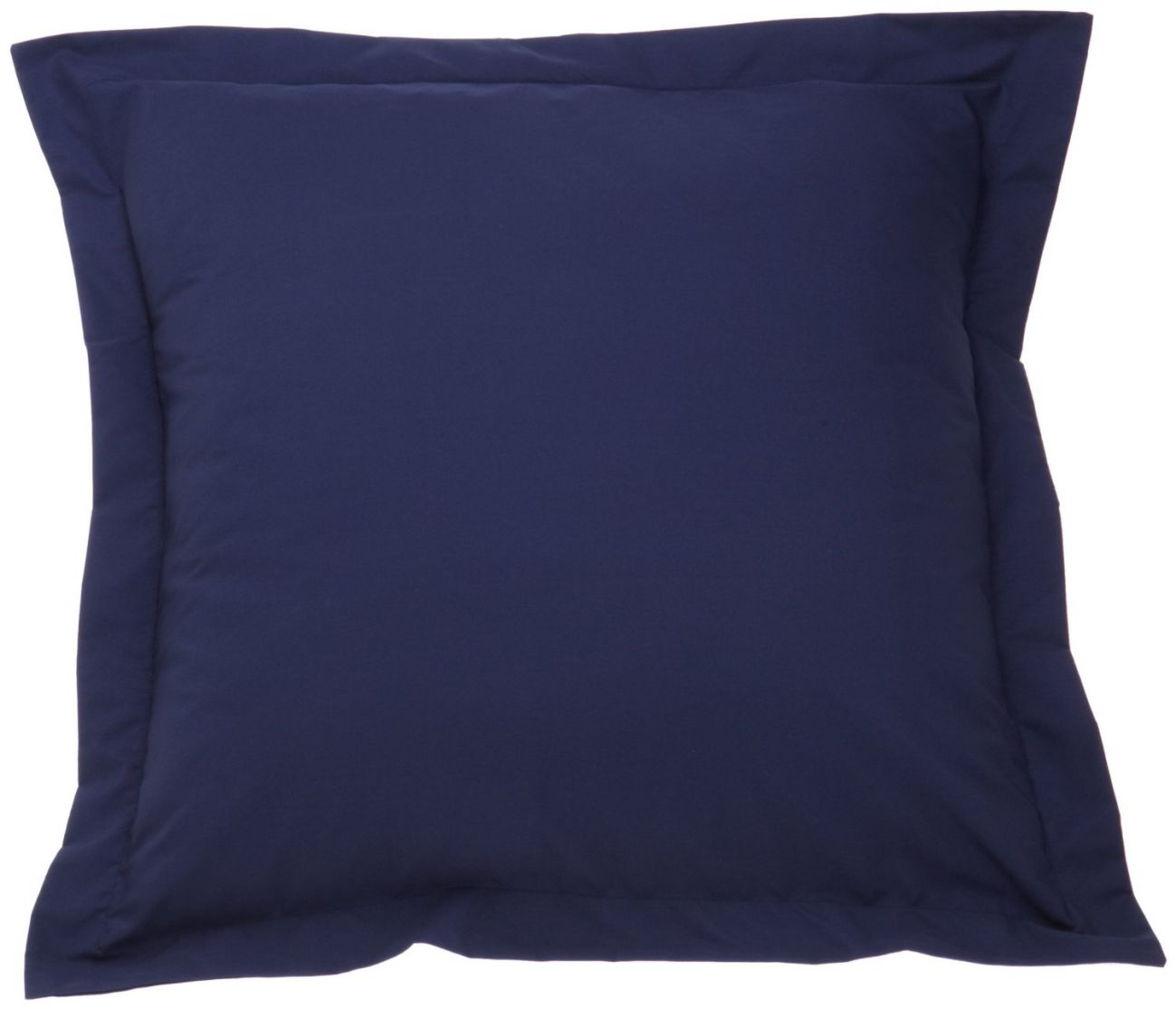 Fresh Ideas Tailored Poplin Pillow Sham Euro, Navy