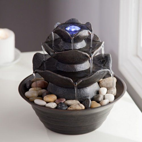 Indoor Water Fountain / Outdoor Water Fountain, Tabletop Water Fountain with Water Falls