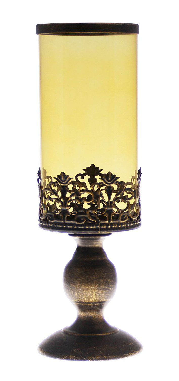 JustNile Classic Candle Stand - Black with Glass