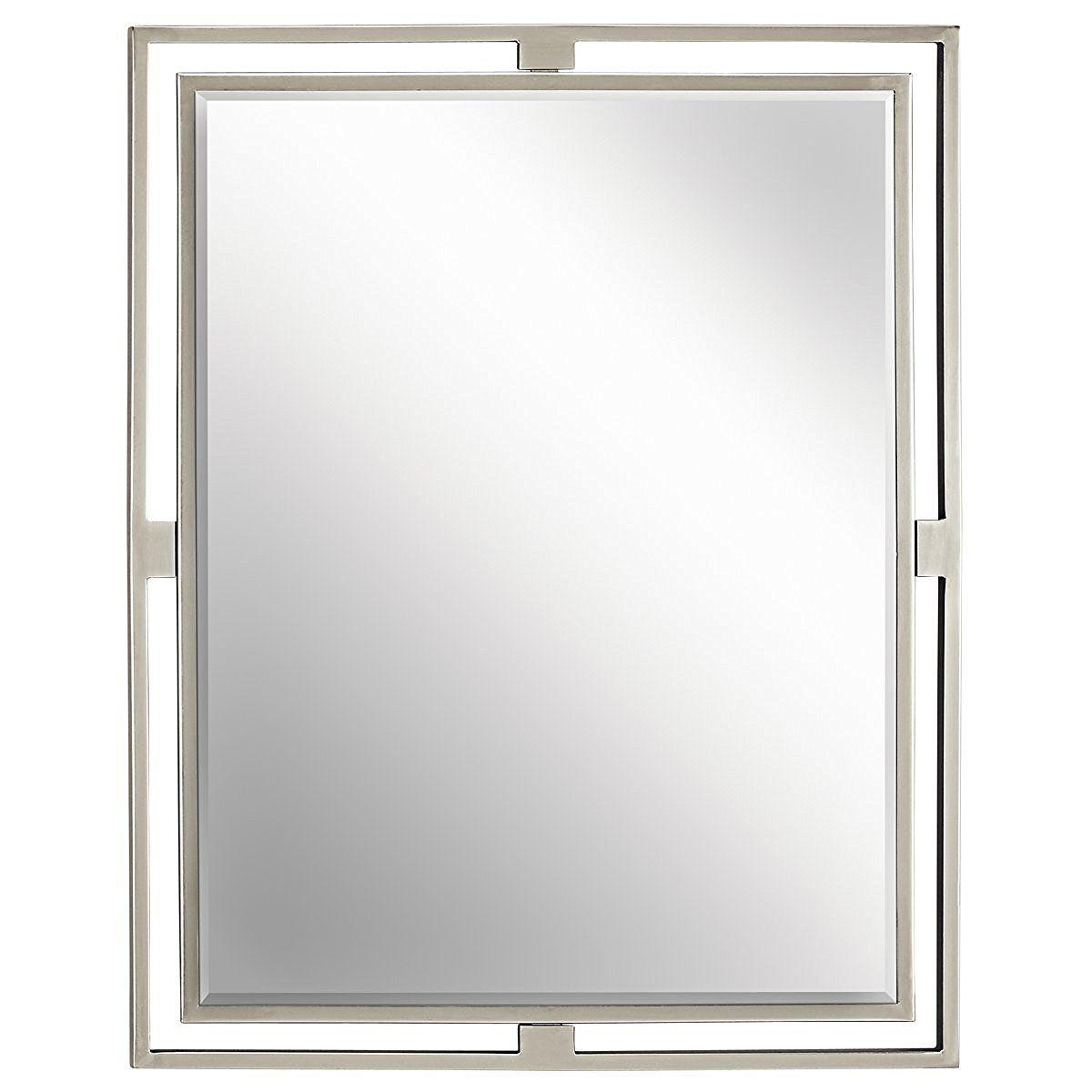 Kichler Lighting 41071NI Hendrik Rectangular Mirror, Brushed Nickel
