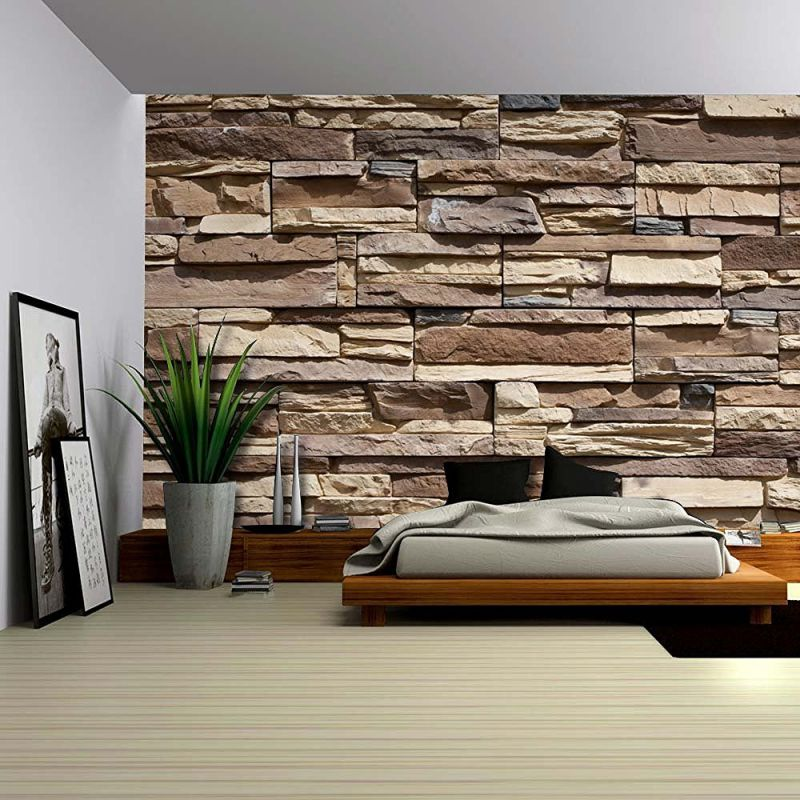 Wall26® - Modern Neutral Colored Brick Pattern Wall - Wall Mural, Removable Wallpaper, Home Decor - 100x144 inches