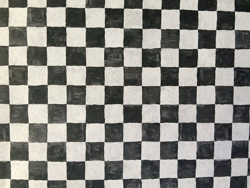 Norwall Black & White Checkered Wallpaper Aw25127l