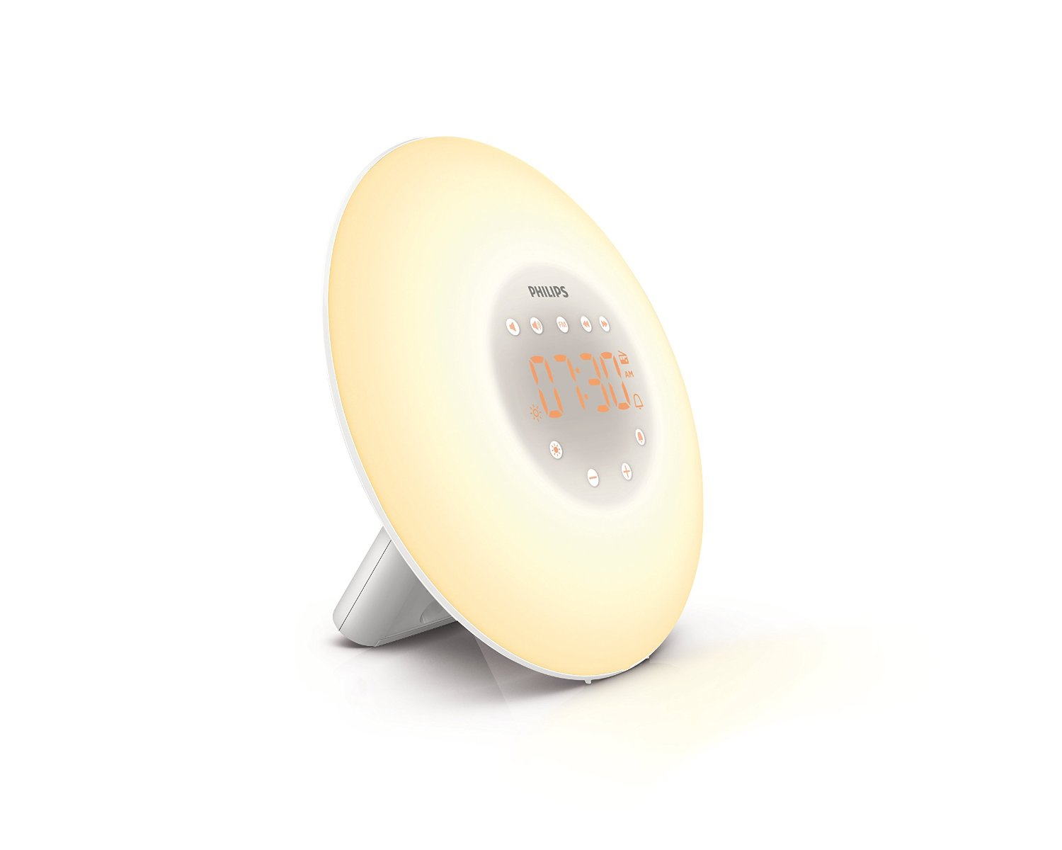 Philips Wake-Up Light with Sunrise Simulation and Radio, White, HF3505