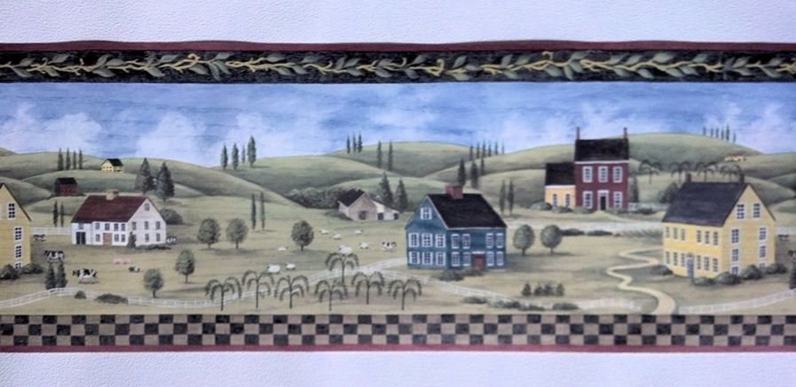 Primitive Countryside Country Wallpaper Border - MCB5700