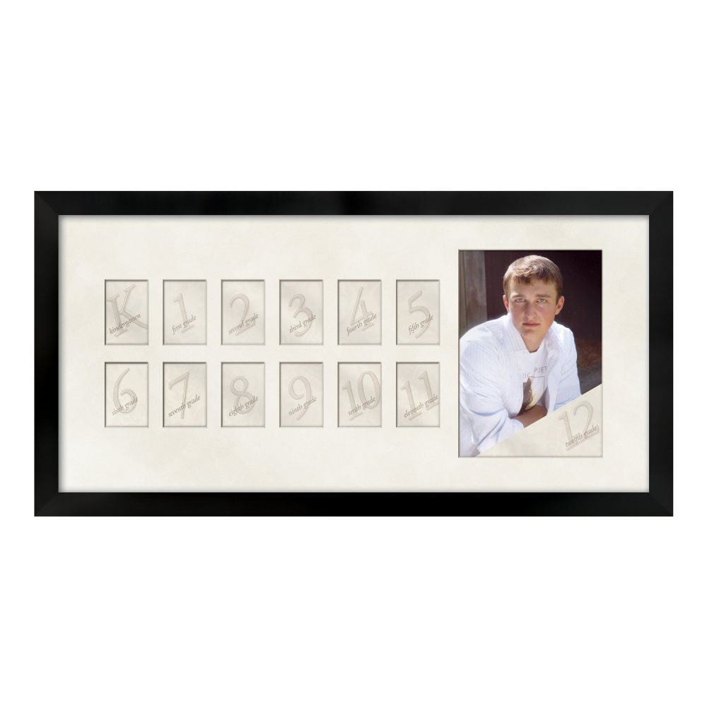 Prinz Collage Picture Day Wood Frame, Black