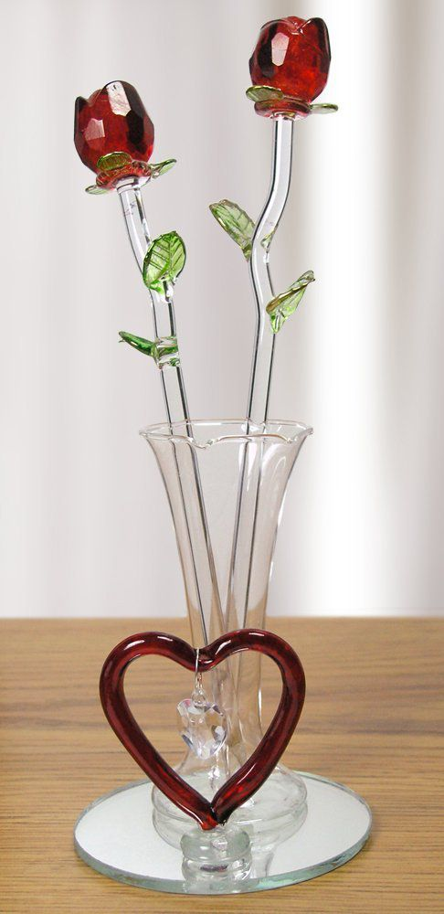 Rose In A Glass For Handmade Gift Decor On The Line