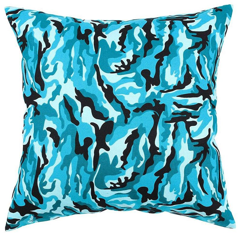 "TangDepot174; Camouflage Throw Pillow Cover, Camo Pillow Cases - 100% Cotton Canvas, Handmade - Many Colors & Sizes Avaliable - (26""x26"", C04 Ocean Camo)"