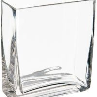 WGV Clear Rectangle Block Glass Vase, 2 by 5 by 6-Inch