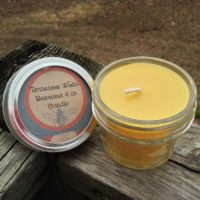 4oz Hand-poured, Handmade Unscented Mason Jelly Jar 100% All Natural Beeswax Candle with Cotton Wick