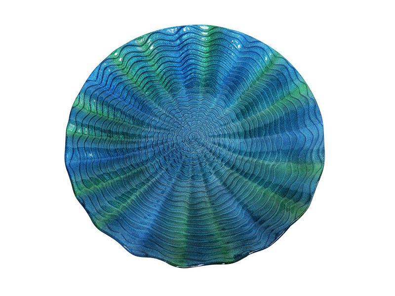 Alpine Birdbath, Blue/Green, 18""