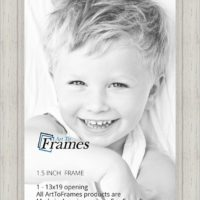 ArtToFrames 13x19 inch Off White Stain on Solid Wood Wood Picture Frame, WOM0066-78238-YWHT-13x19