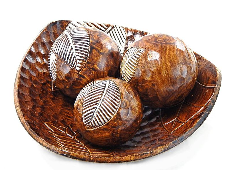 Roll over image to zoom in Beautiful Decorative Artisan Deco Bowl and Ball Centerpiece