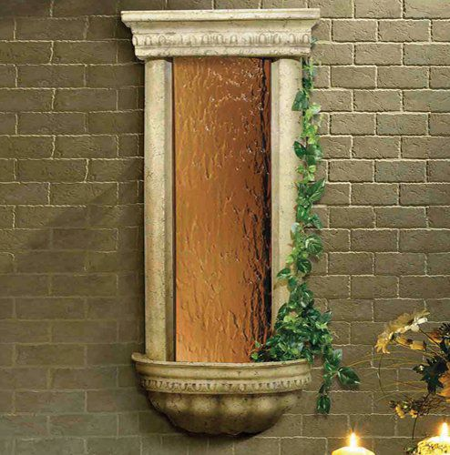BluWorld Bellezza 45 in. Indoor Wall Fountain - Bronze Mirror