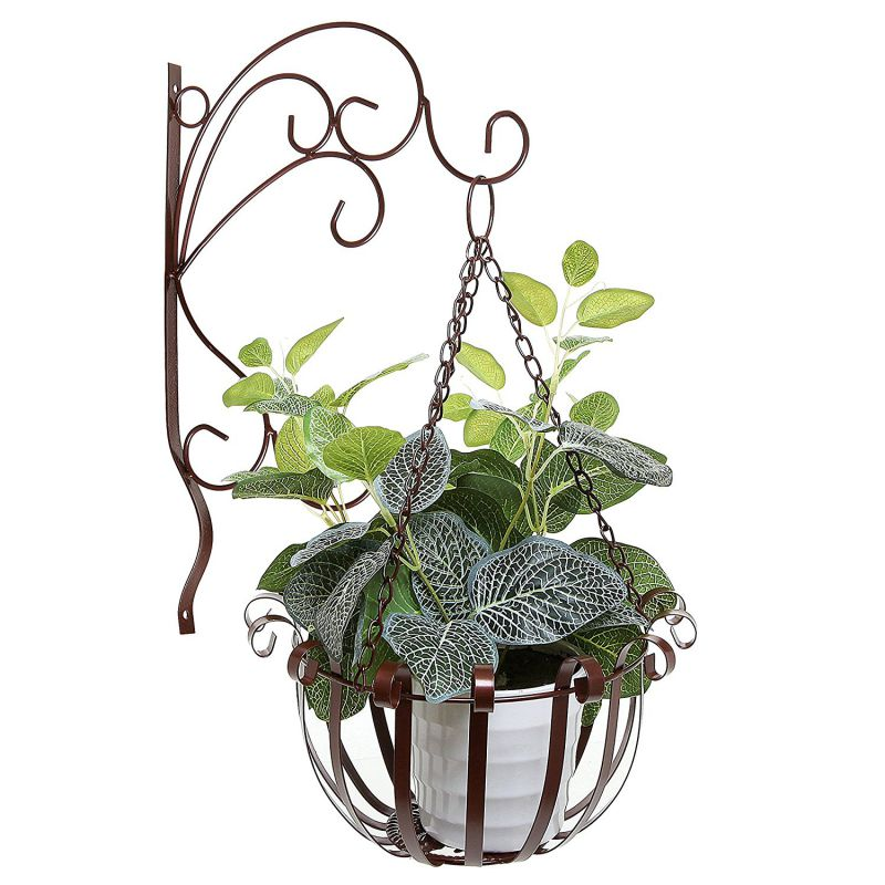Metal Flower Hanging Baskets : Advantages of having indoor hanging planters decor on