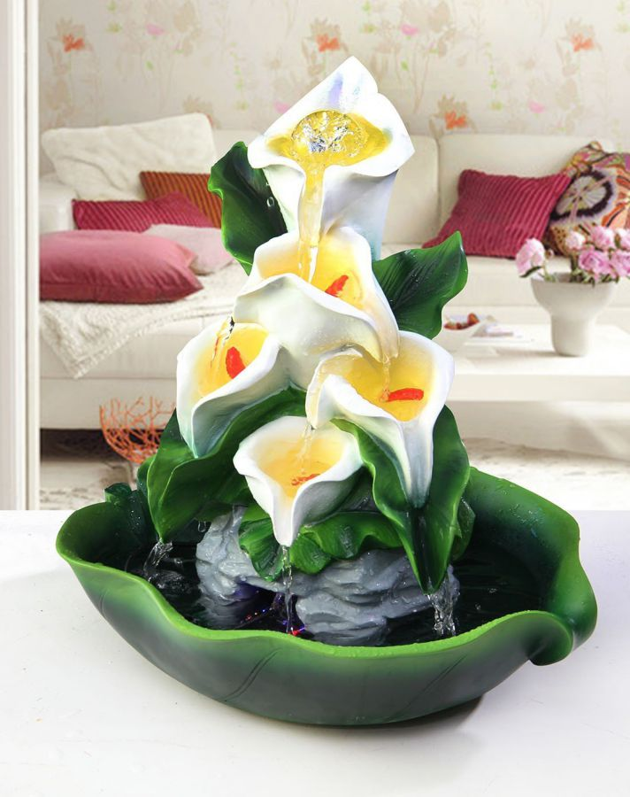 Calla Lily fountain water crafts Home Office living room decoration