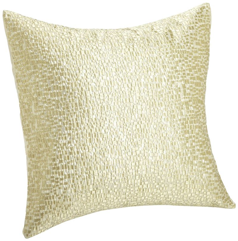 Calvin Klein Home Luminous Pillow, Gold Mosaic