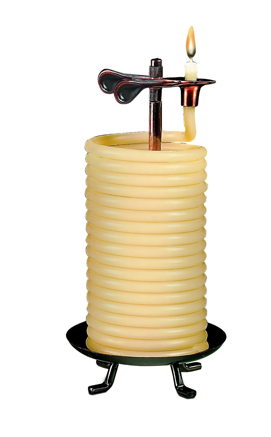 Candle by the Hour 80-Hour Vertical Candle, Eco-friendly Natural Beeswax with Cotton Wick