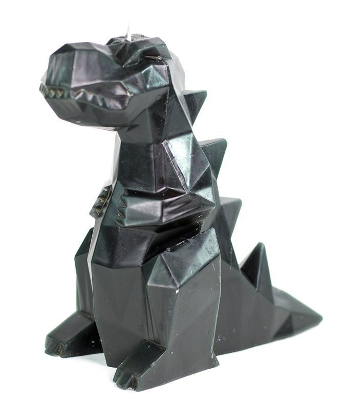 Dinosaur Candle - Rexy - Geometric Candles - Black