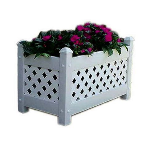 DuraTrel White Plastic Planter Box (model 11154)