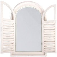 Esschert Design White Window Frame w/French Doors