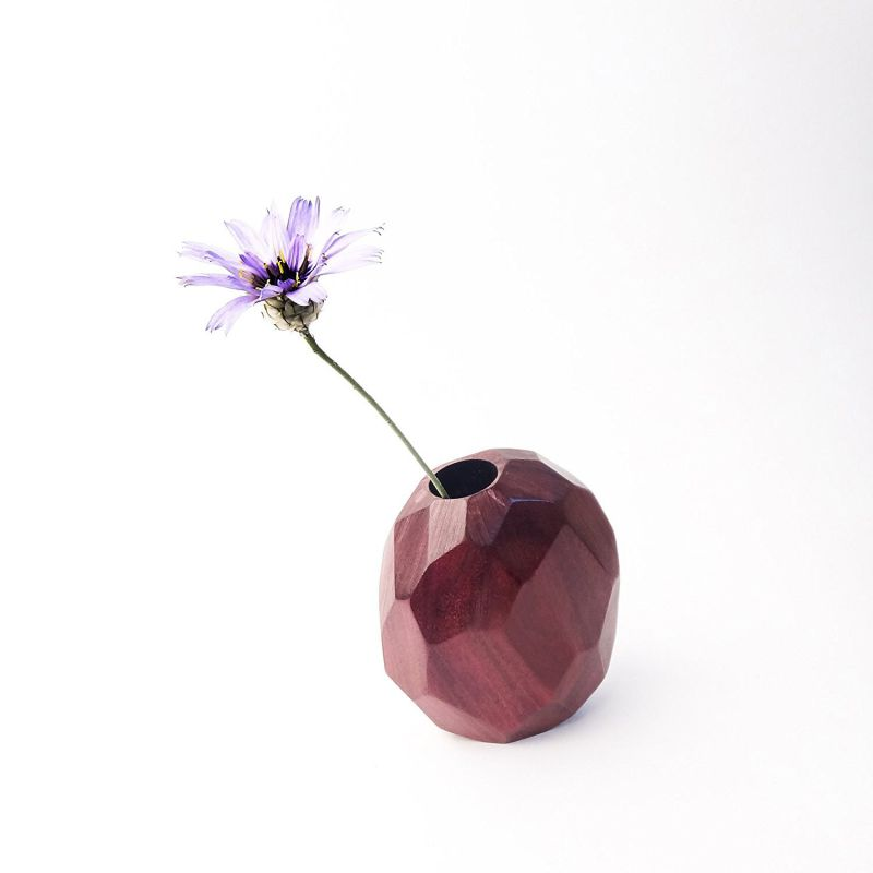 Faceted Bud Vase - Purpleheart