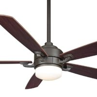 Fanimation FP8003OB 52-Inch Benito 5-Blade Ceiling Fan, Oil Rubbed Bronze with Walnut/Mahogany Blades
