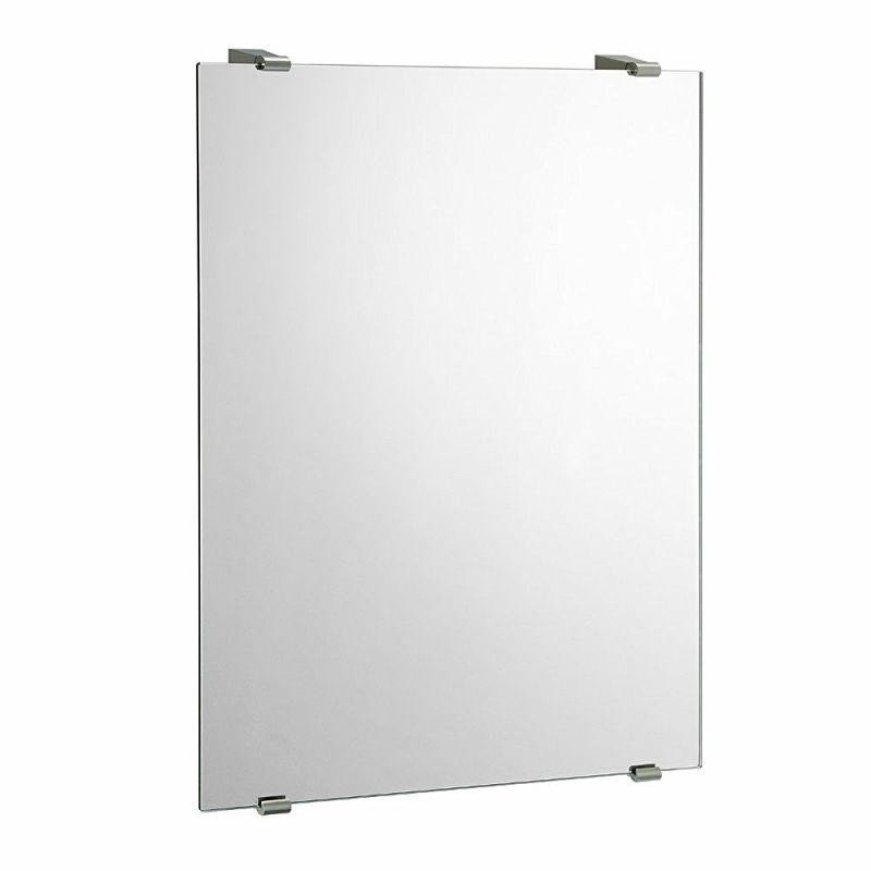 Gatco 1564 Bleu Minimalist Wall Mirror, Satin Nickel