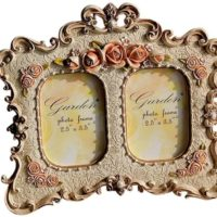 Giftgarden 2.5x3.5 Vintage Double Picture Frame 2.5 by 3.5 -inch