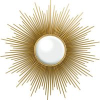 Global Views Sunburst Mirror, Gold