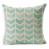 "HomeChoice Cotton Linen Vintage Retro Arrows Striped Durable Home Square Decorative Throw Pillow Cover Accent Cushion Cover Pillow Shell Bed Pillow Case For Car Safa 18 By 18 Inches (18""X18""),Aqua Blue"