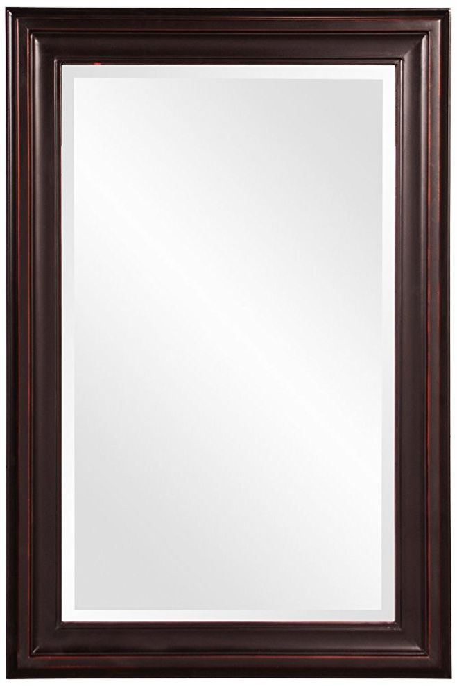 Howard Elliott 53047 George Rectangular Mirror, Oil Rubbed Bronze
