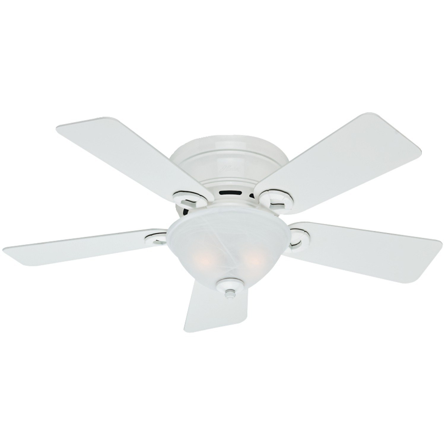 Hunter Fan Company 51022 Conroy 42-Inch Snow White Ceiling Fan with Five Snow White Blades and a Light Kit