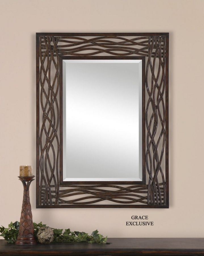 Large WOVEN SEA GRASS Wall Mirror