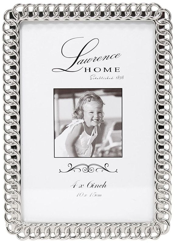 Lawrence Frames Eternity Rings Metal Picture Frame, 4 by 6-Inch, Silver