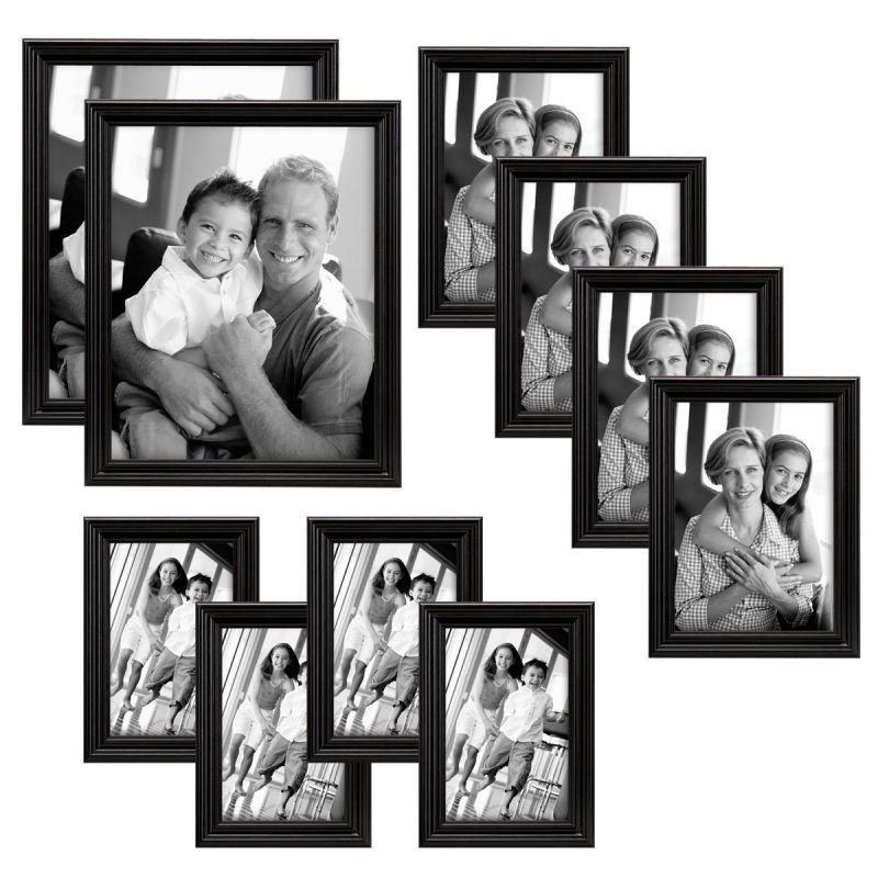 MCS Industries Solid Wood Frame Set, Set of 10, Black (65508)