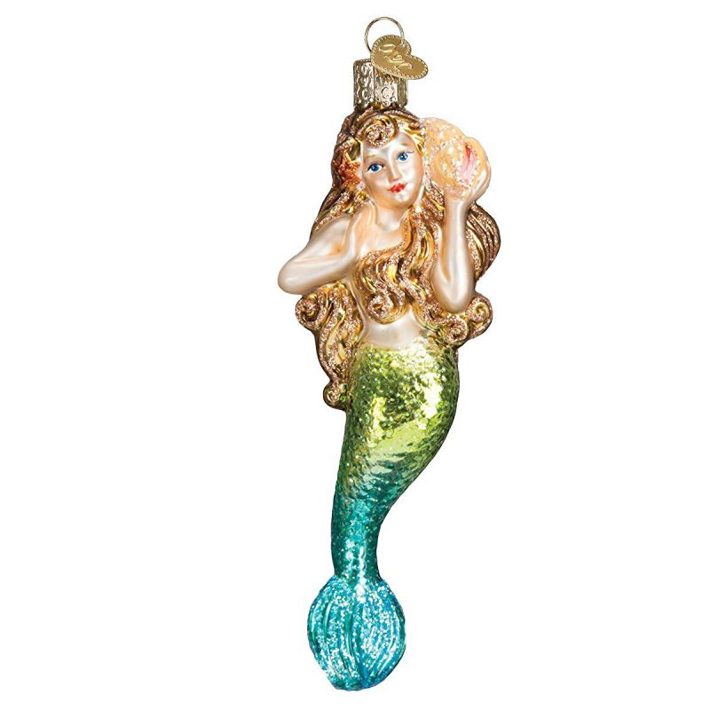 Old World Christmas Mermaid Glass Blown Ornament