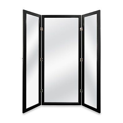 Stylish, Versatile, Low-priced Door Solutions 3-way Over-the-door Mirror in Black