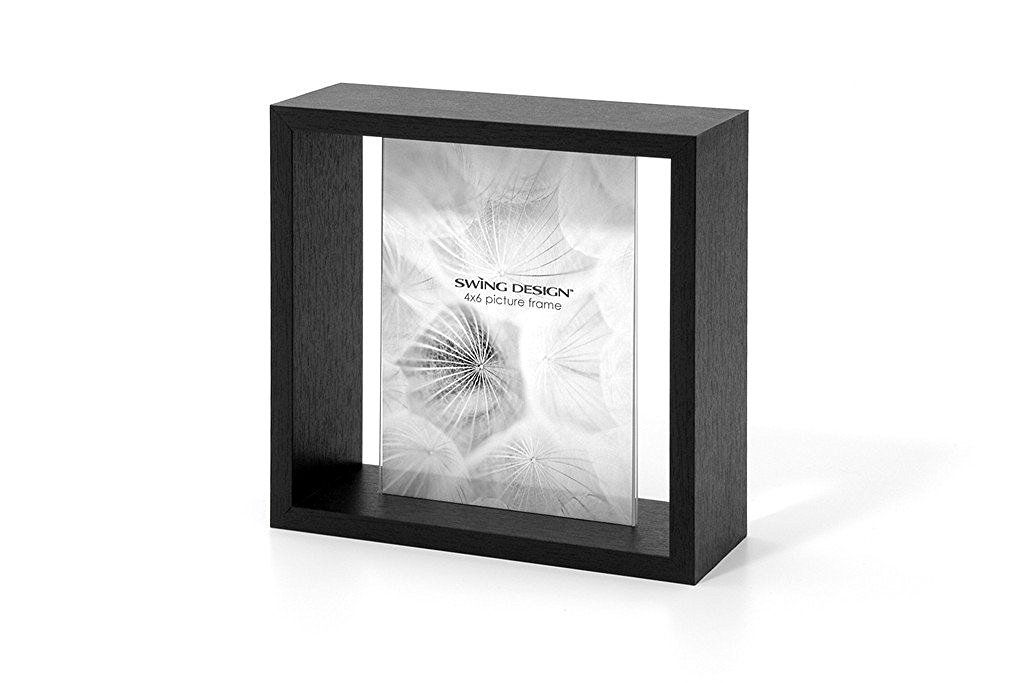 Swing Design Element Picture Frame, 4 by 6-Inch, Black