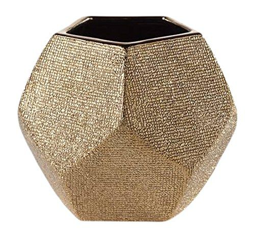 Torre & Tagus 902186A Orion Angle Vase Short - Gold