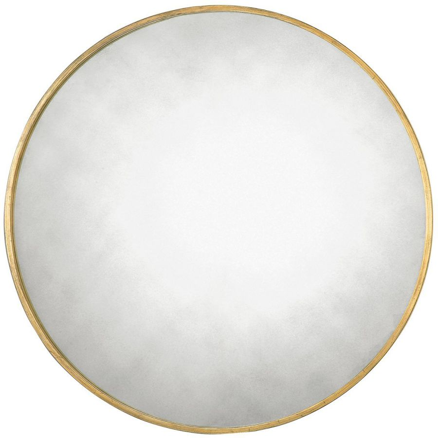 Uttermost 13887 Junius Round Mirror, Gold