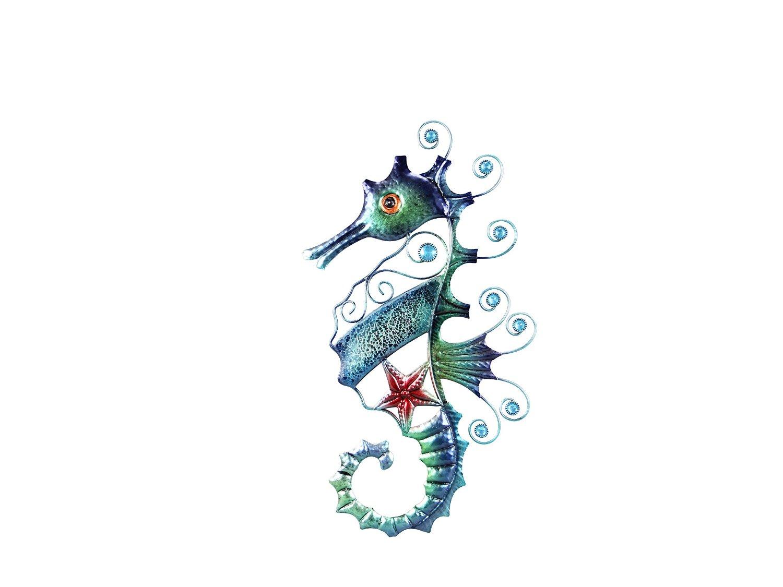"""Young's Metal Mosaic Seahorse Wall Art, 19.29"""""""