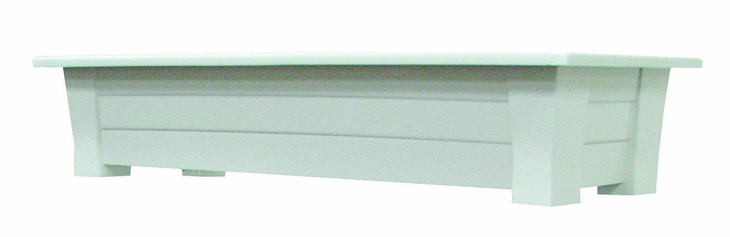Adams Manufacturing 9302-48-3700 36-Inch Deck Planter, White