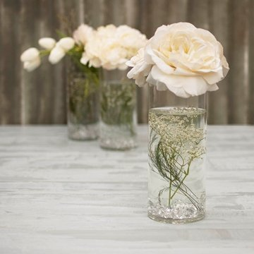 "Cylinder Flower Acrylic Vase Decorative Centerpiece Supply | 5"" x 10"" 